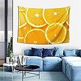 Leopard ocean starry sky tapiz tapiz para colgar en la pared decoración del hogar cortina de puerta para dormitorio sala de estar al aire libre-60 * 40 '- deliciosas naranjas
