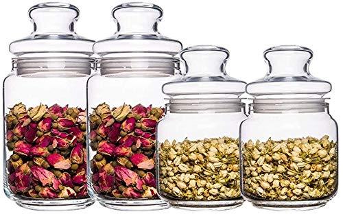 Storage jar Keuken Storage Box Voedsel Container van de Opslag van het glas Sealed Can Deksel Bewaard voedsel Gedroogd fruit Transparent huishouden keuken opslag bestand tegen hoge temperaturen Set va