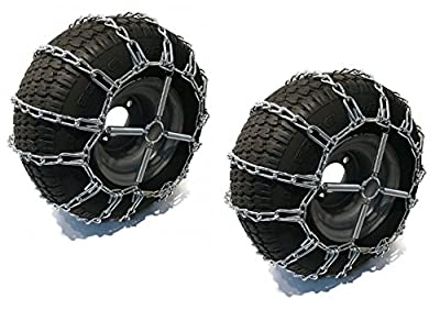 The ROP Shop 2 Link TIRE Chains & TENSIONERS 18x9.5x8 for Sears Craftsman Lawn Mower Tractor