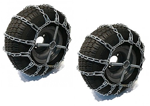 Lowest Price! The ROP Shop 2 Link TIRE Chains & TENSIONERS 20x10x8 for Simplicty Lawn Mower Garden T...
