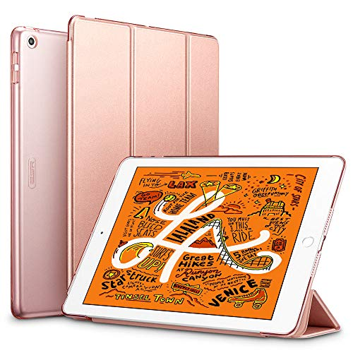 ESR Case for iPad mini 5 2019, Trifold Smart Case, Auto Sleep/Wake Lightweight Stand Case, Hard Back Cover Smart Case, Rose Gold