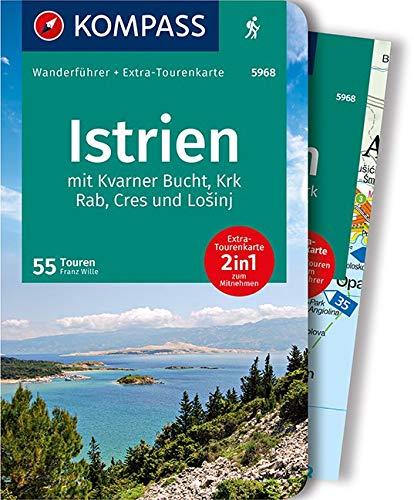 KOMPASS Wanderführer Istrien: Wanderführer mit Extra-Tourenkarte, 55 Touren, GPX-Daten zum Download.