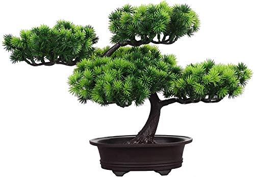 JTSYUXN Künstliche Bonsai Kunstpflanzen mit Topf Simulation Kiefer Topfpflanze Dekorativ Kreative Simulation Bonsai Topf Wohnkultur Naturgetreue einfaches Geschenk (Color : B)