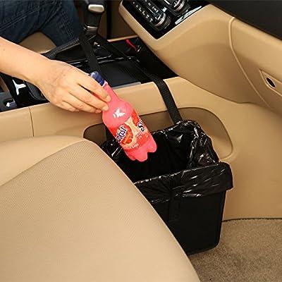 KMMOTORS Jopps Comfortable Car Garbage Bin Original Patented Portable Drive Bin Premium Hanging Wastebasket by KMMOTORS