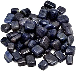 Healing Crystals India 1/2lb Natural Iolite Gemstone Tumble with Free eBook About Crystal Healing (Iolite)