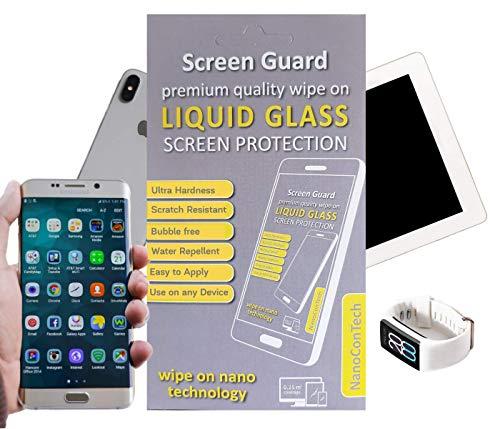 NanoCon Tech Guard - Protezione schermo in vetro liquido - Nano Tecnologia invisibile 9H durezza - Protezione duratura antigraffio antibatterico- Ideale per smartphone, tablet e smartwatch