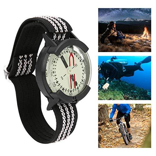 Brújula Reloj Mini Brújula Estable Impermeable Durable Portátil para Camping Buceo Senderismo