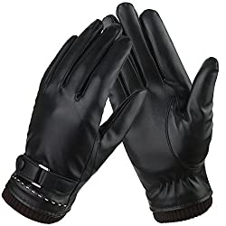Bequemer Laden Damen Winter Lederhandschuhe Eleganz Frauen Warme Touchscreen Leather Handschuhe Echt Leder Freizeit Outdoor Sports Nachrichten Schreiben Handschuhe mit Kaschmirfutter