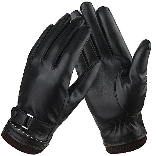 Damen Winter Lederhandschuhe Eleganz Warme Touchscreen Leather Handschuhe Leder Freizeit Outdoor Sports Schreiben Handschuhe mit Kaschmirfutter