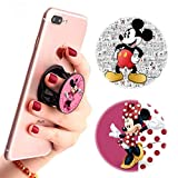 (3 Pack) Multifunction Disney Cell Phone Stand Finger Holder and Grip Pink Heart Minnie Mouse and Mickey Mouse,Foldable Phone Kickstand Mount for Smartphones and Tablets
