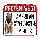 Siviwonder American Staffordshire Terrier - Adhesivo reflectante para coche con diseño de huellas de perro