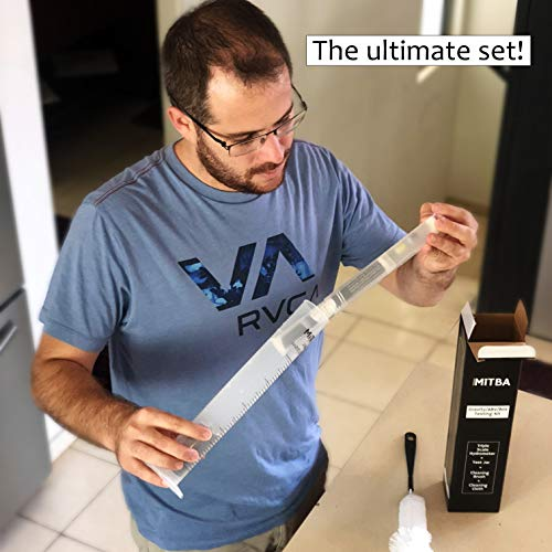 Product Image 5: Hydrometer & Testing Jar Kit by MiTBA Test the ABV, Brix & Gravity of your Wine, Beer, Mead & Kombucha accurately! Triple Scale Hydrometer + 250ml Plastic Graduated Cylinder + cleaning brush & cloth