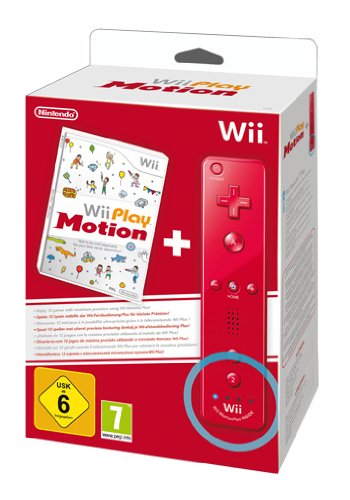 Wii Play Motion + Telecomando Wii Plus, Rosso [Bundle]