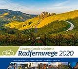 Deutschlands Radfernwege 2020, Wandkalender im Querformat (54x48 cm) - Mit Hintergrundinformationen zu den Fahrradtouren, mit Monatskalendarium - Ackermann Kunstverlag