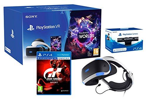 Playstation VR2 GT Sport Pack Gran Turismo Sport + VR Worlds + PS4 Camera V2