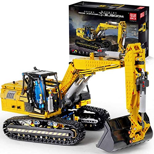 Technic Building Blocks Excavator, 1830Parts 2.4G 4CH RC Excavator Terminal Blocks Technic Building Blocks Compatible con Lego Juego de construcción de control remoto