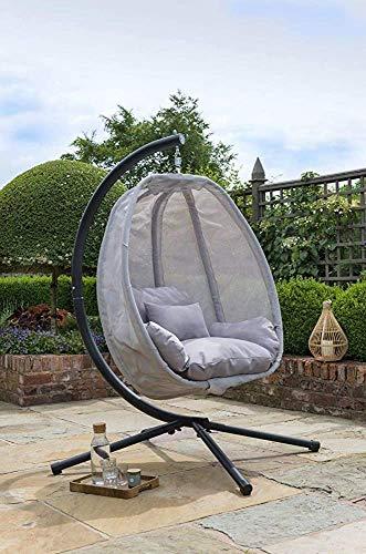 Grau Kokon im Freien Gartenmöbel, Hang Eistuhl Schaukel,Grey