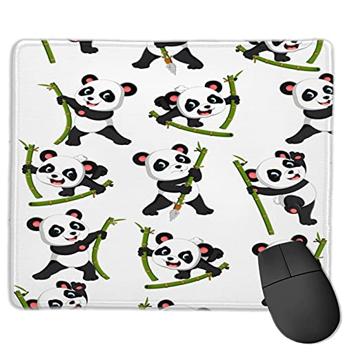 The Panda Holds The Bamboo Mouse Pad Non-Slip Rubber Base Gaming Mouse Pad for Laptop 11.8 X 9.8 X 0.12 in
