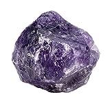 PESOENTH 0.23 lb Rough Amethyst Crystal Rock Stone Natural Purple Quartz Rocks Mineral for Cabbing,Tumbling,Lapidary,Polishing, Wicca &Reiki Healing Crystal Balancing (1.57'-1.77')
