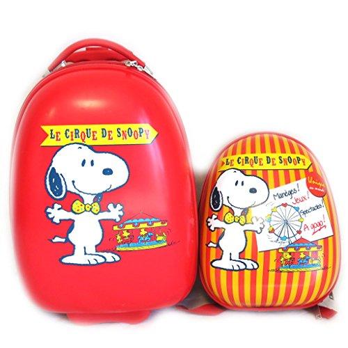 + maleta abs mochila 'Snoopy'rojo (41 cm).