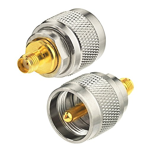 Eightwood Adaptador SMA Hembra UHF Conector Macho