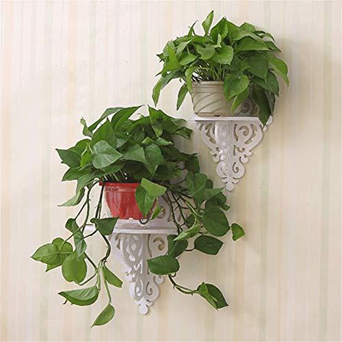 Organizador de pared para almacenamiento de pared – Estantes pequeños flotantes blancos para macetas de pared Set de 2 piezas (color A, tamaño: un tamaño)
