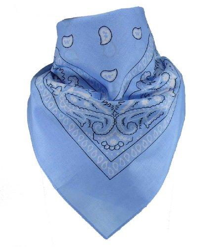 Harrys-Collection Unisex Bandana Bindetuch 100% Baumwolle (1 er 6 er oder 12 er Pack), Farbe:hellblau