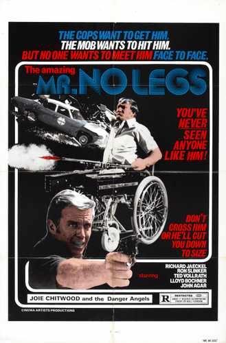 Geweldige Mr No Legs Poster 01 Canvas A2 grote 42x60cm Doos Doek Print 16x24 inch