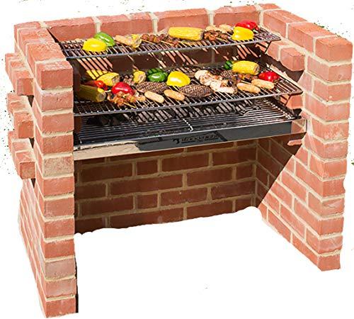 BLACK KNIGHT BARBECUES BKB 302 90 x 90 x 39 cm Grand Kit Barbecue – en Acier Inoxydable
