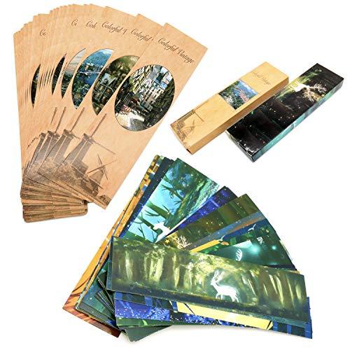60 Lesezeichen aus Papier, Seitenmarkierungen, 60 niedliche Lesezeichen im kreativen Stil, personalisierte Lesezeichen für Schüler, Lehrer, Schulen, Home-Office-Zubehör (5,9 x 1,6 Zoll)