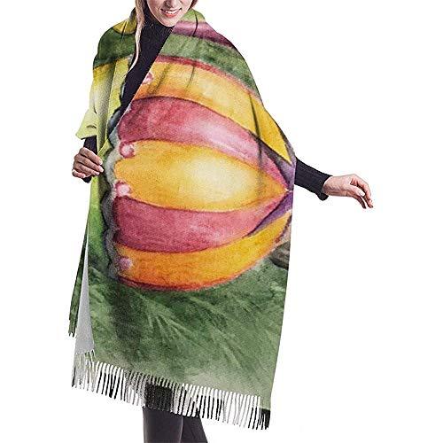 Elaine-Shop Ornament Toalla Chal Envoltura Invierno Cálido Bufanda Cape Cachemira Bufanda Envoltura