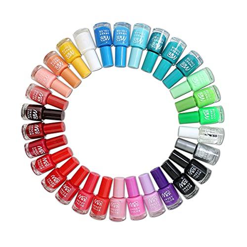 Set Completo per unghie artificiali, 24 Smalti in diversi colori vivaci per una perfetta nail art....