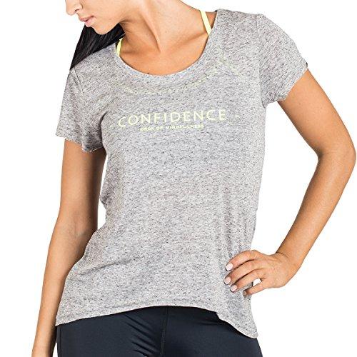 Drop Of Mindfulness Damen T-Shirts Goldie, Grey Melange, M