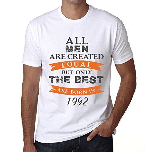 T Shirt Magliette Uomo Manica Corta 1992 Compleanno 28 Anni Regalo Only The Best Are Born in 1992 Compleanno 28 Anni Regalo XXXL Bianca