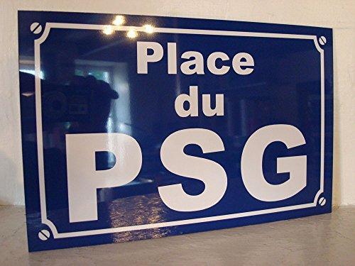 Noir & Mat Sérigraphie Place du PSG Format 20 x 30 Création Plaque de Rue idée Cadeaux Objet Collector
