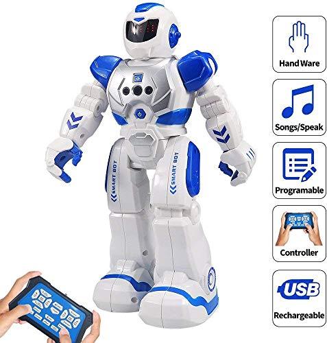 HUSAN Robot Télécommandé pour Les Enfants, RC Robot Enfant programmable de Danse Chanter ...