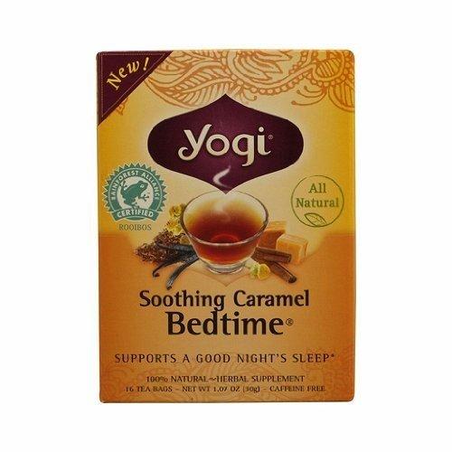 Yogi Bedtime Herbal Tea Caffeine Free Soothing Caramel - 16 Tea Bags