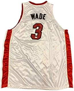 Dwyane Wade Autographed Signed Autograph Miami Heat Home White Jersey JSA Authentic