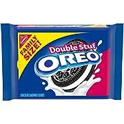 OREO Double Stuf Chocolate Sandwich Cookies, Family Size, 20 oz