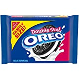 One 20 oz family size pack of OREO Double Stuf Chocolate Sandwich Cookies Chocolate wafers stuffed with twice the OREO creme Chocolate sandwich cookies are supremely dunkable cookies for kids and adults Enjoy as birthday treats, lunchtime snack foods...