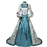 Women's Marie Antoinette Masked Ball Victorian Dress 18th Century Medieval Victorian Civil War Ball Gown Southern Belle Costume (L, 25-Blue)