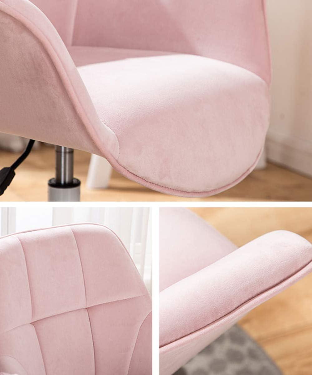 GAOPANG Chaise Ergonomique Chaise de Bureau, Dossier Moyen Ergonomique, Soutien Lombaire, Chaise de Bureau d'ordinateur, mobilier de Maison/Bureau Pink
