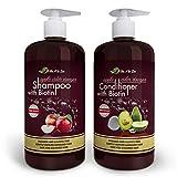 Apple Cider Vinegar & Biotin Shampoo & Conditioner (2 x 16.9 fl oz) | Infused with Aloe Vera Juice, Argon Oil & Saw Palmetto Extract | Balances pH, Condition, Strengthen, Moisturize & Remove Build-up