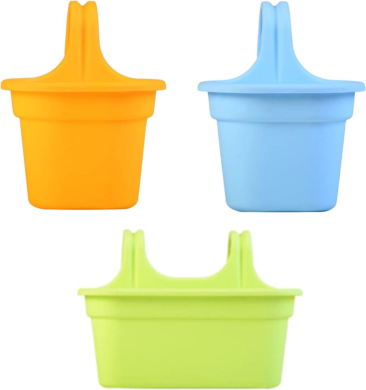 Flueyer 3PCS 67% OFF of fixed price Hanging Bucket List price Pots Garden Pl Plastic Balcony