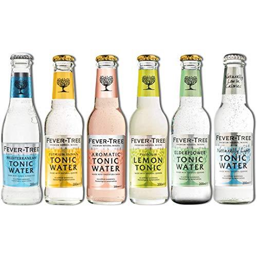 Fever Tree Lot de 24 sodas toniques Différentes saveurs