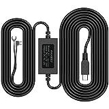Pruveeo Dash Cam Hardwire Kit, Mini USB Hard Wire Kit for Dashcam Parking Mode and Motion Detection, Surveillance 12V-30V to 5V