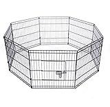 SavingPlus 61x61CM Folding Pet Play Pen Dog Rabbit Puppy Playpen Cage Run Fence Garden UK