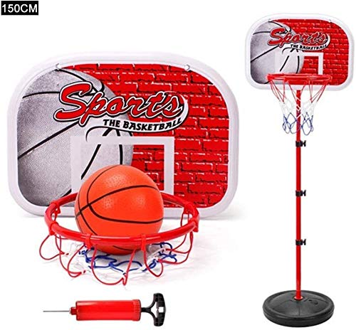 SONGYU-Basketball Set Child Kids Portable Height Adjustable Basketball Hoop Basketball Stand Indoor Outdoor Basketball Set Child Best Gift Basketball Stand (Size : 165cm(Standard Rebounds 46x32cm))