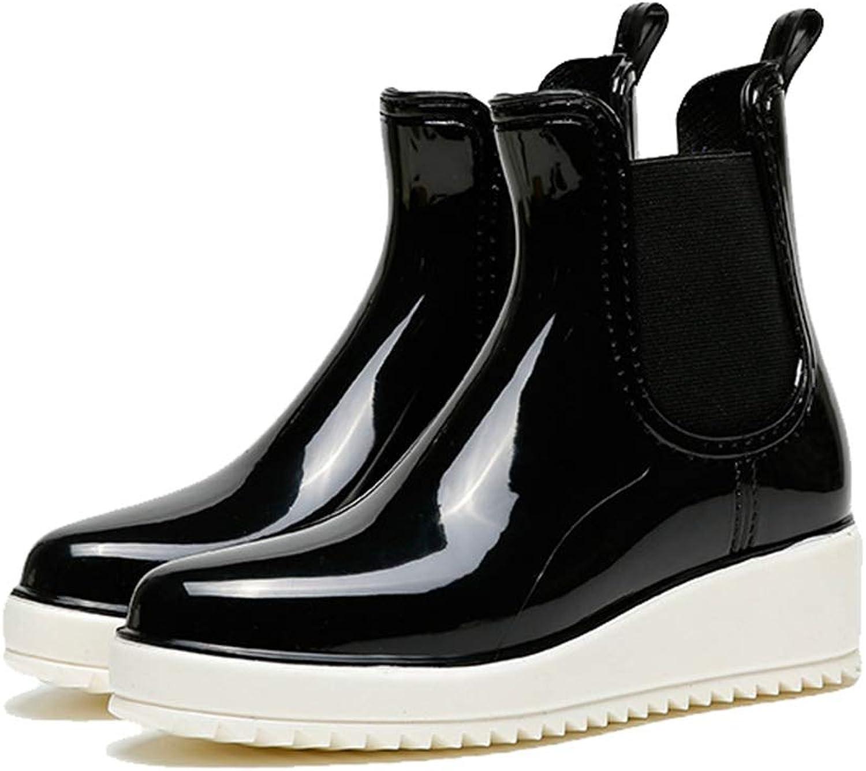 York Zhu Women Rain Boots - Non-Slip Platform High Grade Waterproof Sport Boots