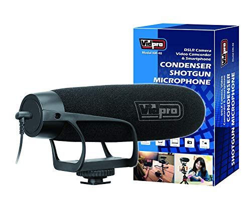 Vidpro XM-48 Professional Condenser Shotgun Video Microphone DSLR cameras, video camcorders, smartphones and computers for field recording, interviews, video production, live and studio work